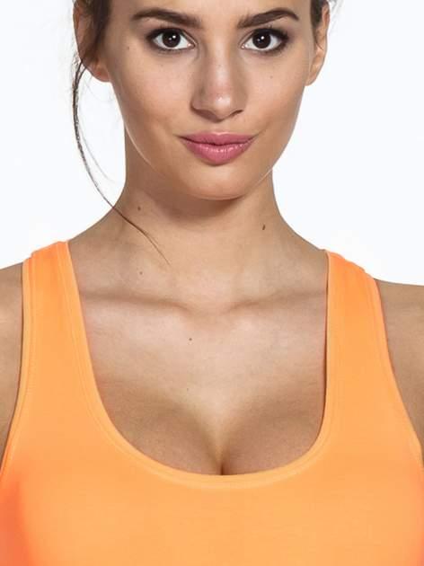 Jasnopomarańczowy top sportowy basic typu bokserka                                  zdj.                                  4
