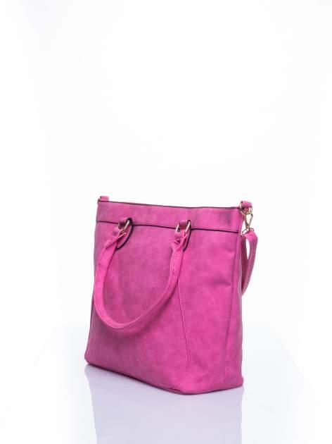 Jasnoróżoa torba city bag na ramię                                  zdj.                                  4