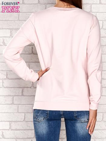 Jasnoróżowa bluza z napisem ARIGATO                                  zdj.                                  4