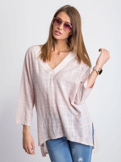 Jasnoróżowa bluzka Hollaback                              zdj.                              1