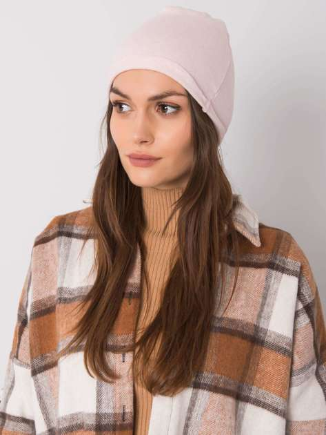 Jasnoróżowa czapka bawełniana