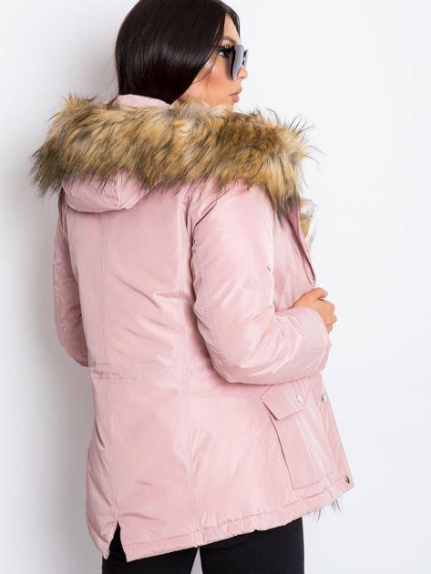 Jasnoróżowa kurtka Winter                              zdj.                              2