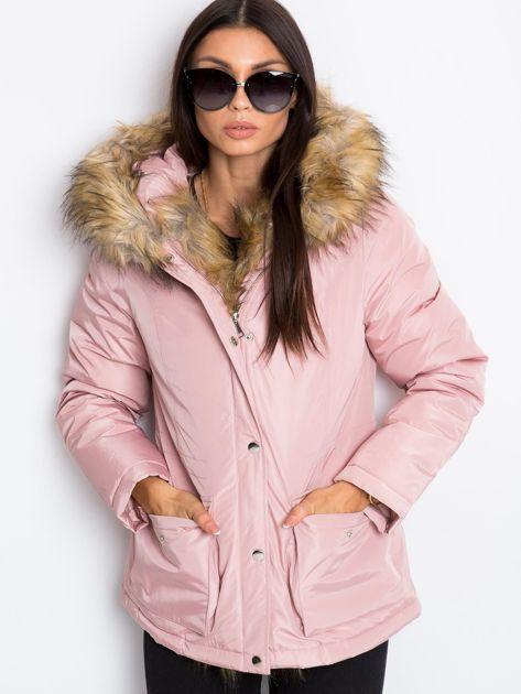 Jasnoróżowa kurtka Winter                              zdj.                              6