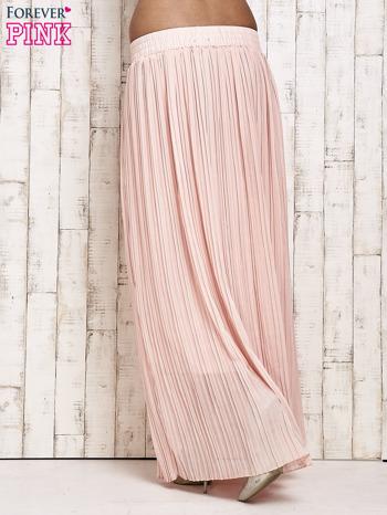 Jasnoróżowa spódnica maxi w plisy                                  zdj.                                  2
