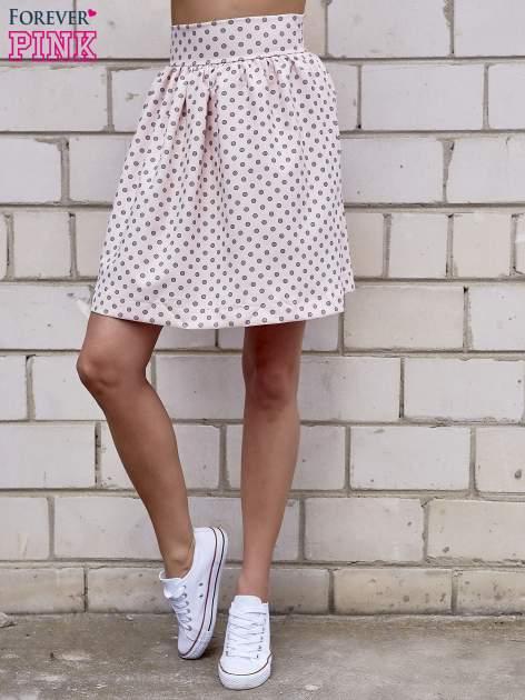 Jasnoróżowa spódnica w grochy z plisami                                  zdj.                                  2