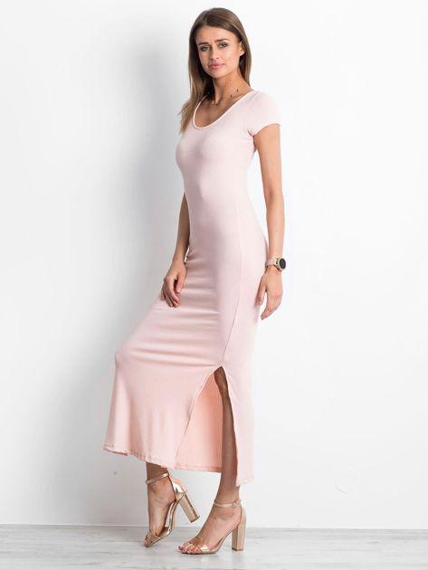 Jasnoróżowa sukienka Touching                              zdj.                              3