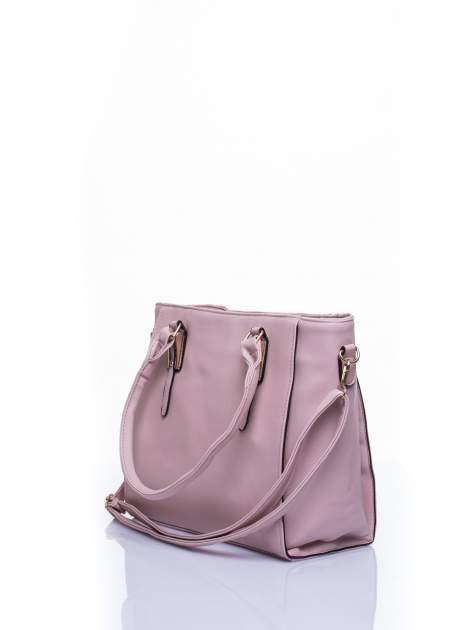 Jasnoróżowa torba shopper bag z odpinanym paskiem                                  zdj.                                  4
