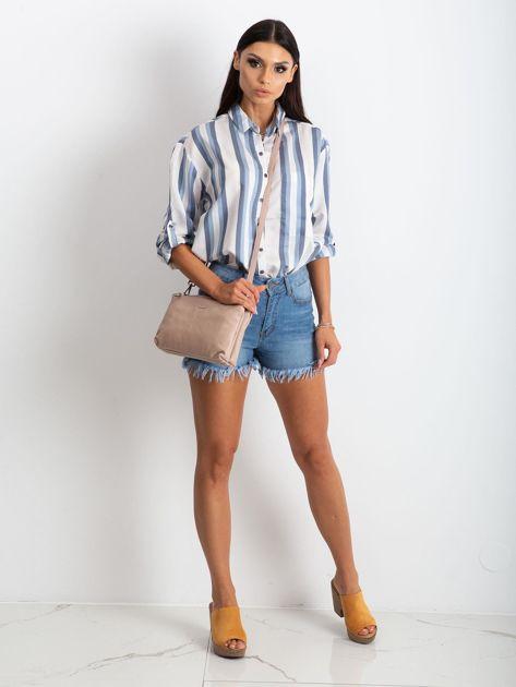 Jasnoróżowa torebka damska ze skóry naturalnej                              zdj.                              4