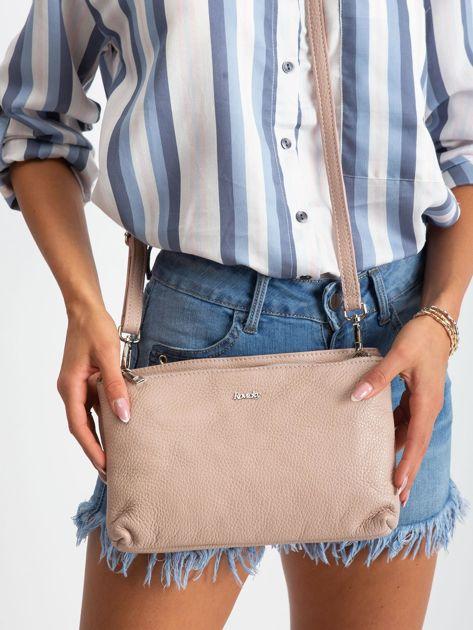 Jasnoróżowa torebka damska ze skóry naturalnej                              zdj.                              2