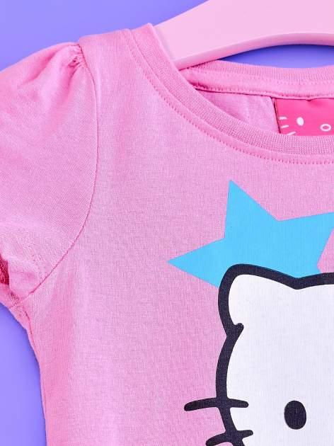 Jasnoróżowa tunika dla dziewczynki z motywem HELLO KITTY                                  zdj.                                  3