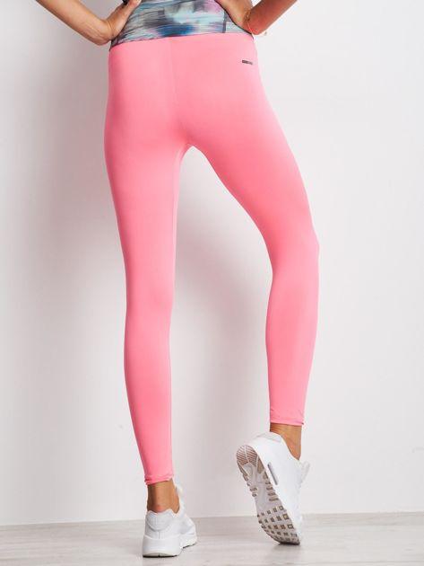 Jasnoróżowe długie cienkie legginsy do biegania                              zdj.                              2