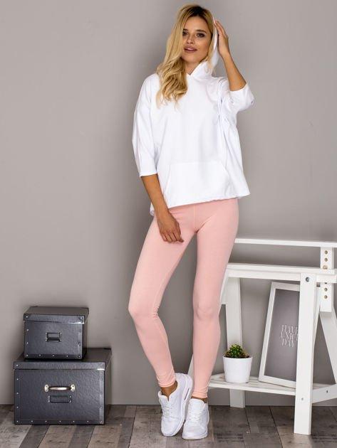Jasnoróżowe legginsy basic                                  zdj.                                  4