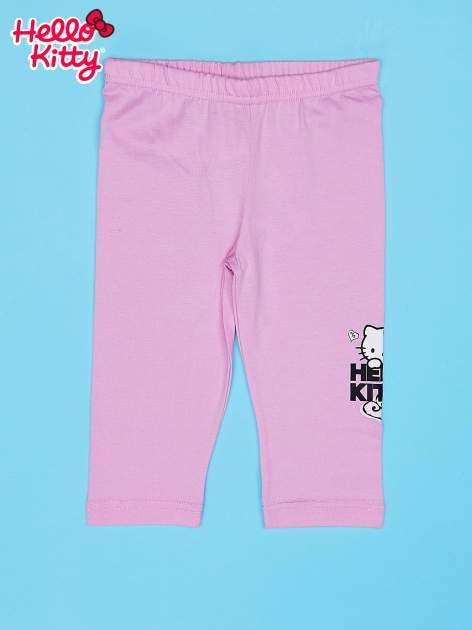 Jasnoróżowe legginsy dla dziewczynki HELLO KITTY                                   zdj.                                  1