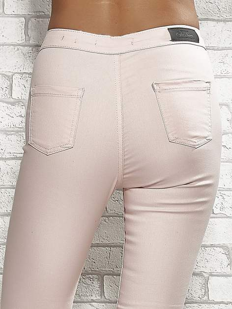 Jasnoróżowe spodnie rurki skinny                                  zdj.                                  6