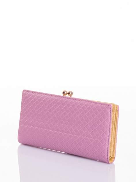 Jasnoróżowy elegancki portfel na bigiel                                  zdj.                                  2