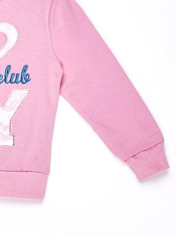 Jasnoróżowy komplet dla dziewczynki bluza i spodnie dresowe                              zdj.                              4