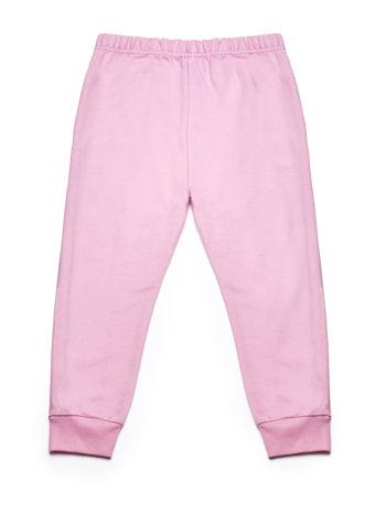 Jasnoróżowy komplet dla dziewczynki bluza i spodnie dresowe                              zdj.                              6
