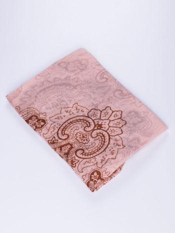 Jasnoróżowy orientalny szal we wzór paisley                                  zdj.                                  2