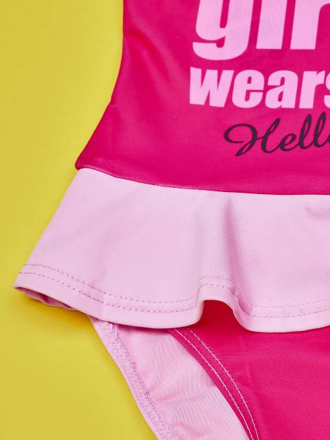 Jasnoróżowy strój kąpielowy dla dziewczynki HELLO KITTY                                  zdj.                                  5