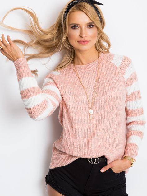 Jasnoróżowy sweter Independent                              zdj.                              1