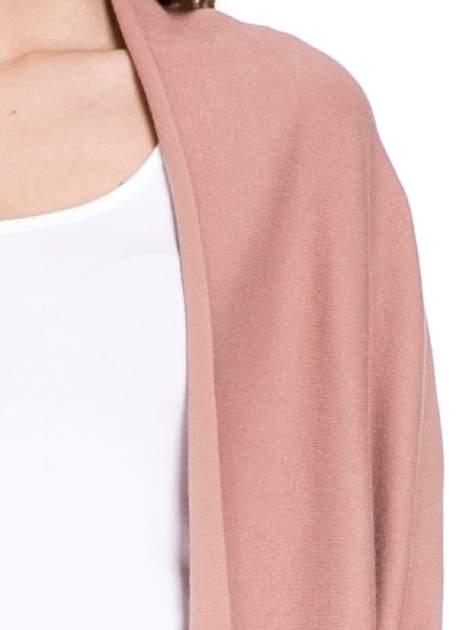 Jasnoróżowy sweter narzutka z nietoperzowymi rękawami                                  zdj.                                  5