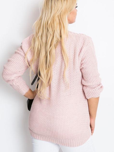 Jasnoróżowy sweter plus size Now                               zdj.                              3