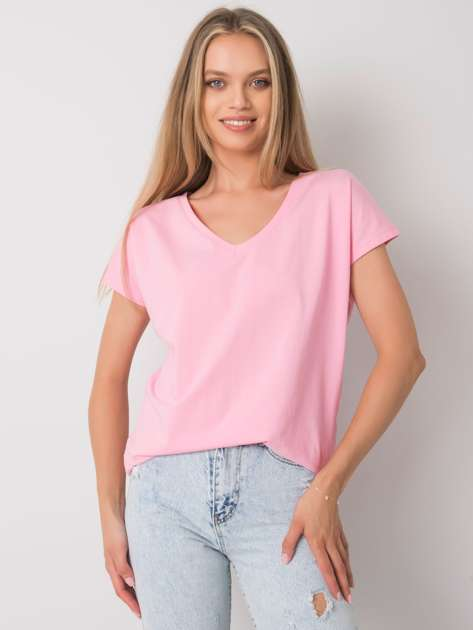Jasnoróżowy t-shirt Emory
