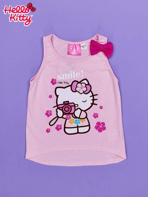 Jasnoróżowy t-shirt dla dziewczynki bez rękawów HELLO KITTY                                  zdj.                                  1
