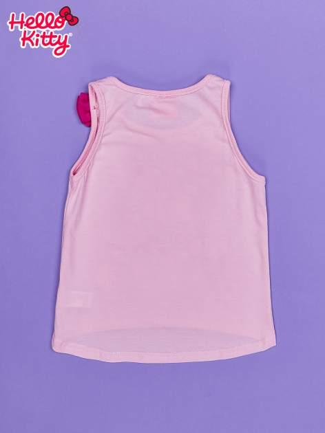 Jasnoróżowy t-shirt dla dziewczynki bez rękawów HELLO KITTY                                  zdj.                                  2