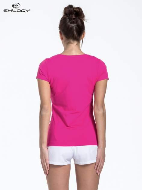 Jasnoróżowy t-shirt sportowy basic                                  zdj.                                  2