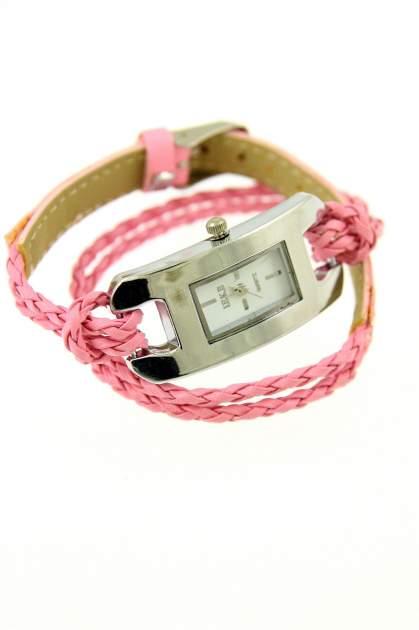 Jasnoróżowy zegarek damski na długim plecionym pasku                                  zdj.                                  1