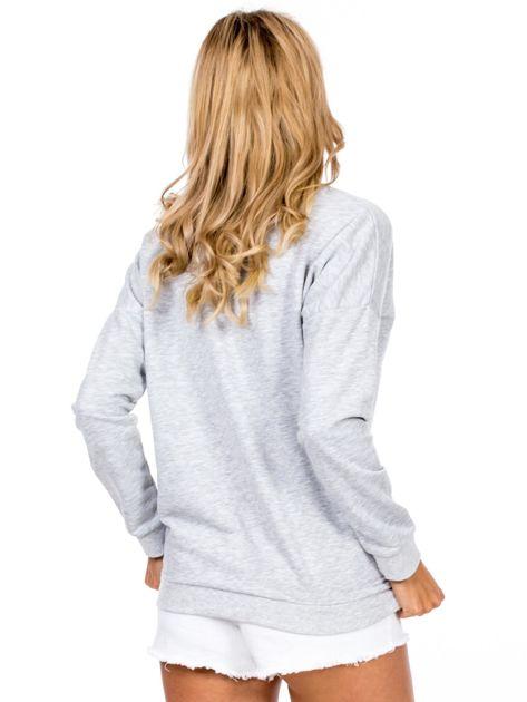 Jasnoszara bluza basic                              zdj.                              2