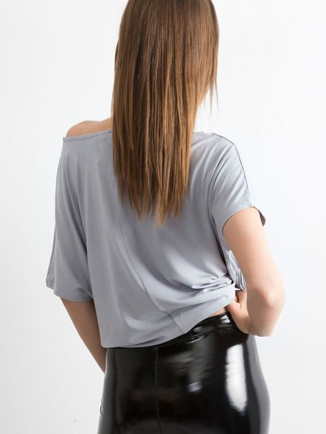 Jasnoszara bluzka Oversize                              zdj.                              2