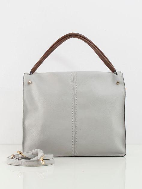 Jasnoszara duża torba city bag