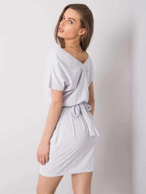 Jasnoszara melanżowa sukienka na co dzień Aimee RUE PARIS
