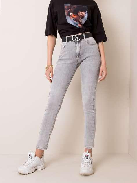 Jasnoszare jeansy Marble