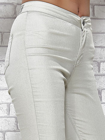 Jasnoszare spodnie rurki skinny                                  zdj.                                  6