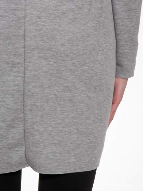 Jasnoszary płaszczyk dresowy bluza z kapturem                                  zdj.                                  6