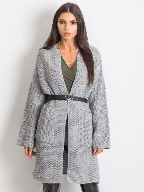 Jasnoszary sweter Luna                              zdj.                              1