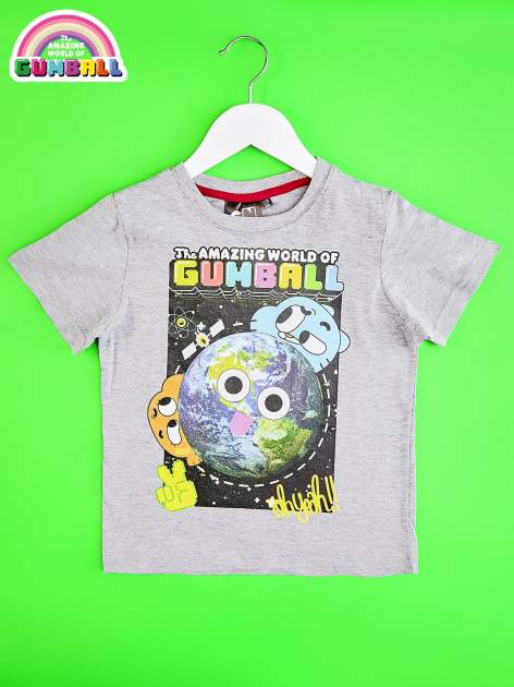 Jasnoszary t-shirt chłopięcy GUMBALL                                  zdj.                                  1
