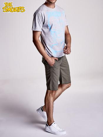 Jasnoszary t-shirt męski SMERFY                                  zdj.                                  8