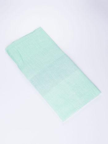 Jasnozielona bawełniana chusta damska duża w pasy                                  zdj.                                  2