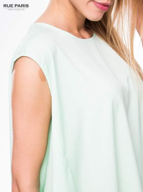 Jasnozielona koszula dzwonek z wydłużanym tyłem                                  zdj.                                  7