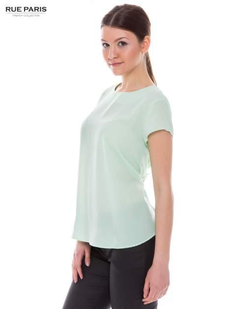 Jasnozielona zwiewna bluzka                              zdj.                              3