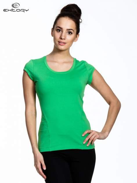 Jasnozielony damski t-shirt sportowy basic                                  zdj.                                  1