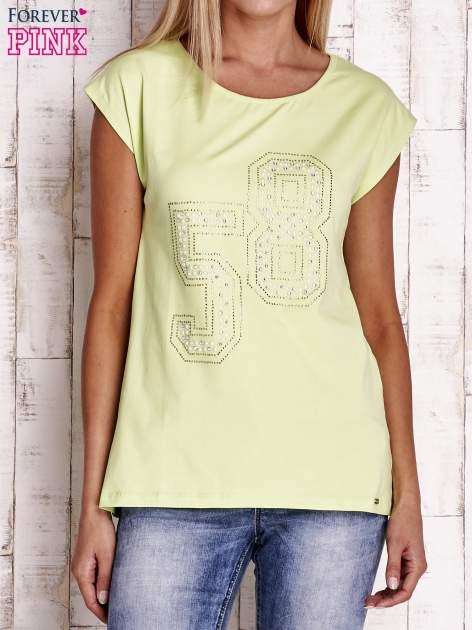 Jasnozielony t-shirt z numerem 58 z dżetów                                  zdj.                                  1