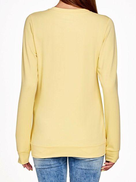 Jasnożółta bluza z napisem LOVE                              zdj.                              2