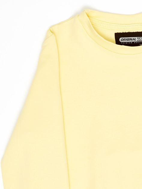 Jasnożółta bluza młodzieżowa                              zdj.                              3