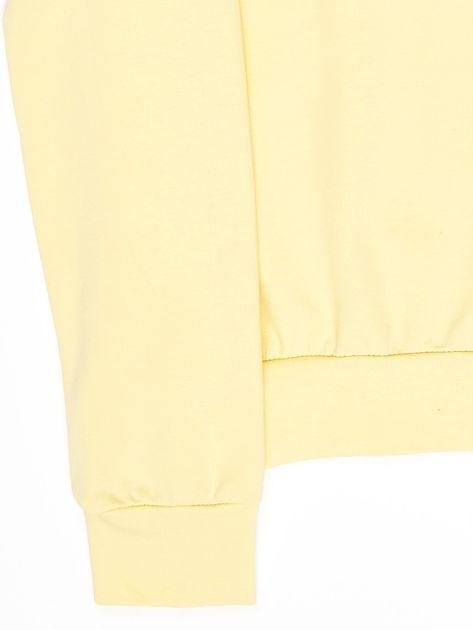 Jasnożółta bluza młodzieżowa                              zdj.                              4