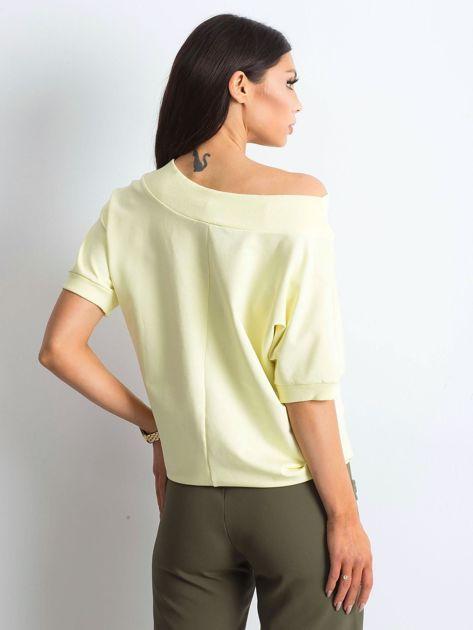Jasnożółta melanżowa bluzka Lemontree                              zdj.                              2